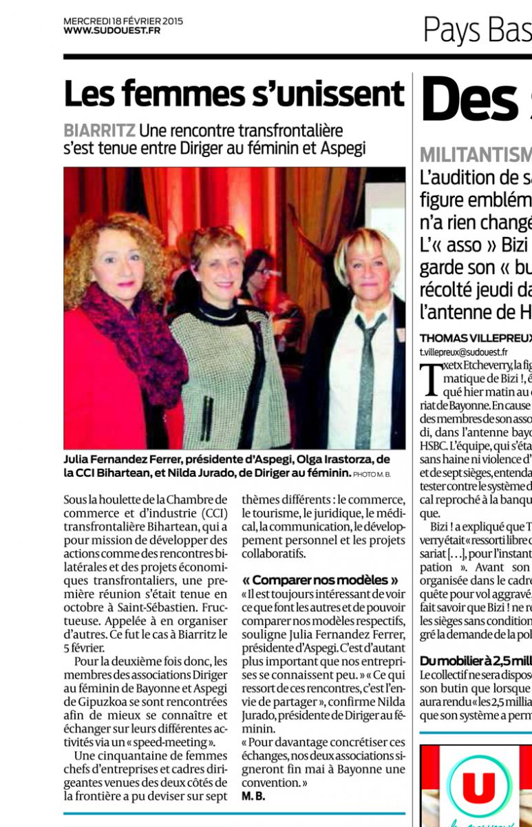 Presse et m dias diriger au f minin for Chambre de commerce franco espagnole